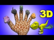 Finger Family  Crazy Dinosaur Family Nursery Rhyme | Funny Finger Family Songs For Children In 3D